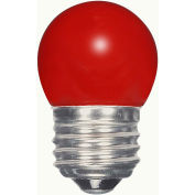 Satco S9165 1.2W LED S11 Night Light Bulb Medium Base Ceramic Red