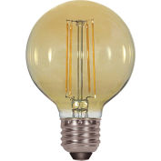 Satco S9584 4.5W G25 Filalment LED Amber Medium Base 2200K
