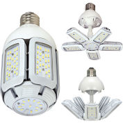 Satco S29750 30W LED HID Replacement Adjustable Beam Angle Corn Lamp, Med Base, 5000K, 100-277V