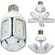 Satco S29751 40W LED HID Replacement Adjustable Beam Angle Corn Lamp, Mogul Ext Base 5000K, 100-277V