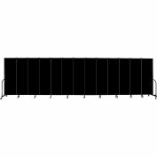 "Screenflex Portable Room Divider, Fire Resistant, 6'H x 24'1""L, Black"