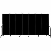 "Screenflex Portable Room Divider, Fire Resistant, 6'H x 13'1""L, Black"