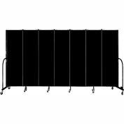 "Screenflex Portable Room Divider, Fire Resistant, 6'8""H x 13'1""L, Black"