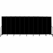 "Screenflex Portable Room Divider, Fire Resistant, 7'4""H x 20'5""L, Black"