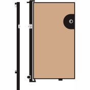 Screenflex 5'H Door - Mounted to End of Room Divider - Vinyl-Hazelnut