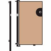 Screenflex 5'H Door - Mounted to End of Room Divider - Vinyl-Hazelnut
