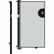 Screenflex 6'H Door - Mounted to End of Room Divider - Grey