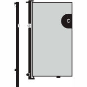 Screenflex 6'H Door - Mounted to End of Room Divider - Vinyl-Granite