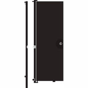 Screenflex 8'H Door - Mounted to End of Room Divider - Charcoal Black