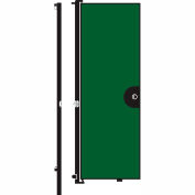 Screenflex 8'H Door - Mounted to End of Room Divider - Sea Green