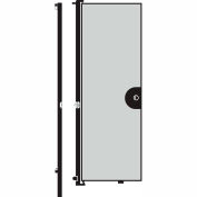 Screenflex 8'H Door - Mounted to End of Room Divider - Vinyl-Granite