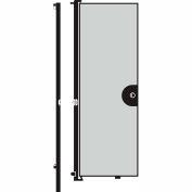Screenflex 8'H Door - Mounted to End of Room Divider - Vinyl-Granite