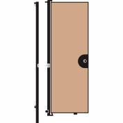 Screenflex 8'H Door - Mounted to End of Room Divider - Vinyl-Hazelnut