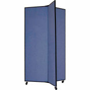 "3 Panel Display Tower, 5'9""H, Fabric - Lake"