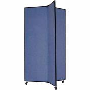 "3 Panel Display Tower, 5'9""H, Fabric - Lake"