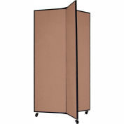 "3 Panel Display Tower, 5'9""H, Fabric - Walnut"