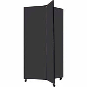 "3 Panel Display Tower, 5'9""H, Fabric - Black"