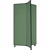 "3 Panel Display Tower, 5'9""H, Fabric - Sea Green"