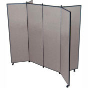 "6 Panel Display Tower, 5'9""H, Fabric - Stone"
