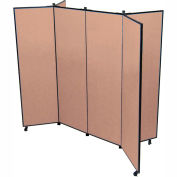 "6 Panel Display Tower, 5'9""H, Fabric - Beech"