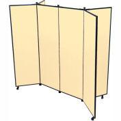 "6 Panel Display Tower, 5'9""H, Fabric - Sand"