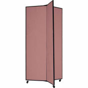 "3 Panel Display Tower, 6'5""H, Fabric - Rose"
