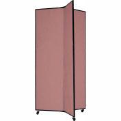 "3 Panel Display Tower, 6'5""H, Fabric - Rose"