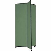 "3 Panel Display Tower, 6'5""H, Fabric - Mallard"
