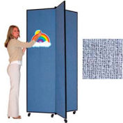 """3 Panel Display Tower, 6'5""""H, Fabric - Summer Blue"""
