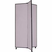 """3 Panel Display Tower, 6'5""""H, Fabric - Grey Smoke"""