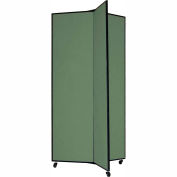 "3 Panel Display Tower, 6'5""H, Fabric - Sea Green"