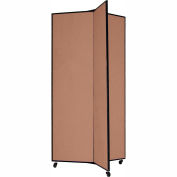 "3 Panel Display Tower, 6'5""H, Fabric - Beech"