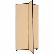 "3 Panel Display Tower, 6'5""H, Fabric - Sand"