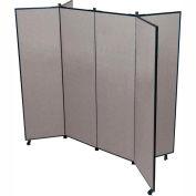 """6 Panel Display Tower, 6'5""""H, Fabric - Grey Smoke"""