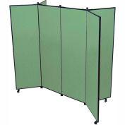 "6 Panel Display Tower, 6'5""H, Fabric - Sea Green"