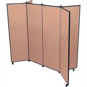 "6 Panel Display Tower, 6'5""H, Fabric - Beech"