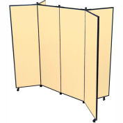 "6 Panel Display Tower, 6'5""H, Fabric - Sand"