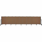 "Screenflex 11 Panel Portable Room Divider, 4'H x 20'5""L, Fabric Color: Walnut"