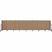"Screenflex 11 Panel Portable Room Divider, 4'H x 20'5""L, Fabric Color: Beech"