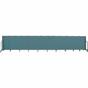 "Screenflex 13 Panel Portable Room Divider, 4'H x 24'1""L, Fabric Color: Lake"