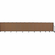 "Screenflex 13 Panel Portable Room Divider, 4'H x 24'1""L, Fabric Color: Walnut"
