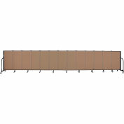 "Screenflex 13 Panel Portable Room Divider, 4'H x 24'1""L, Fabric Color: Beech"