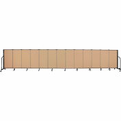 "Screenflex 13 Panel Portable Room Divider, 4'H x 24'1""L, Fabric Color: Sand"
