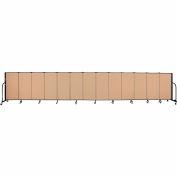 "Screenflex 13 Panel Portable Room Divider, 4'H x 24'1""L, Fabric Color: Wheat"