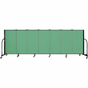 "Screenflex 7 Panel Portable Room Divider, 4'H x 13'1""L Fabric Color: Sea Green"