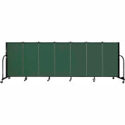 "Screenflex 7 Panel Portable Room Divider, 4'H x 13'1""L Fabric Color: Green"