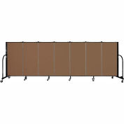 "Screenflex 7 Panel Portable Room Divider, 4'H x 13'1""L Fabric Color: Oatmeal"