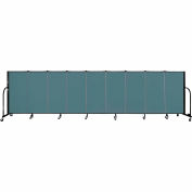 "Screenflex 9 Panel Portable Room Divider, 4'H x 16'9""L, Fabric Color: Lake"