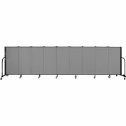 "Screenflex 9 Panel Portable Room Divider, 4'H x 16'9""L, Fabric Color: Stone"