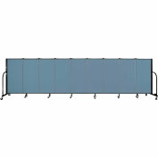 "Screenflex 9 Panel Portable Room Divider, 4'H x 16'9""L, Fabric Color: Summer Blue"